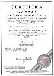 DETAM - İSO 45001 - 2020
